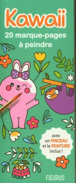 Kawaii - 20 marque-pages a peindre | 9782215162438