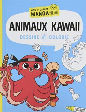 Dessine et colorie: animaux kawaii   9782215175063